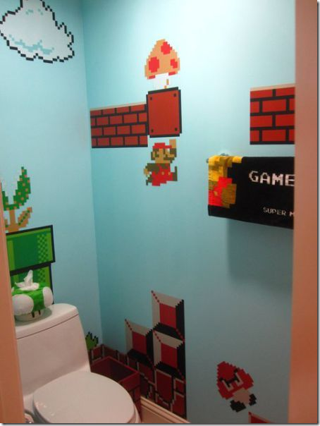 clip image010 thumb1 Girl Makes a Super Mario themed Bathroom