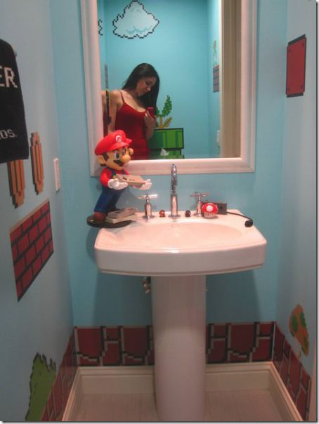 clip image011 thumb1 Girl Makes a Super Mario themed Bathroom