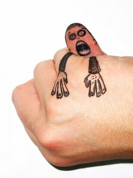clip image00619 The Best Creative Drawings on Fingers