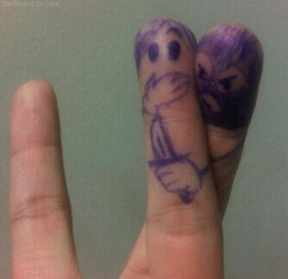 clip image0283 The Best Creative Drawings on Fingers