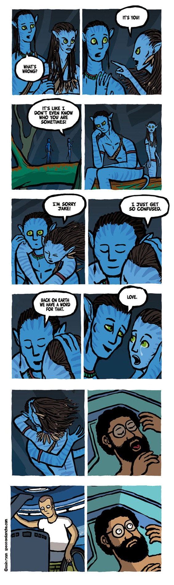 Avatars Awkward Deleted Scene New Deleted Scene from Avatar [Comic]