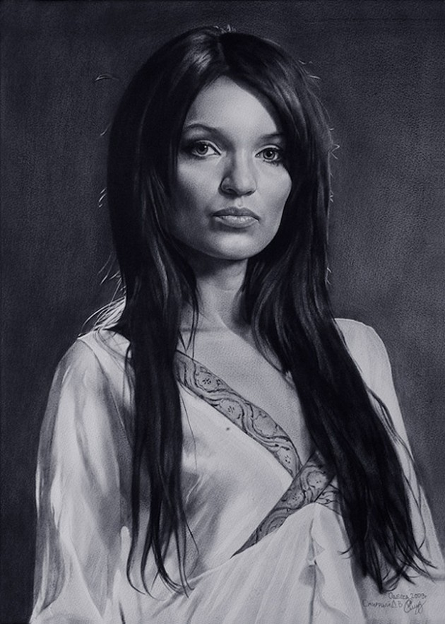 021 630x883 Amazing Celebrity Portraits from Dmitry Smirnovs Artworks