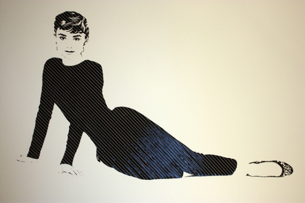 Audrey Hepburn1 Erika Simmons Creates Amazing Celebrity Portraits with Cassette Tapes (34 Pics)