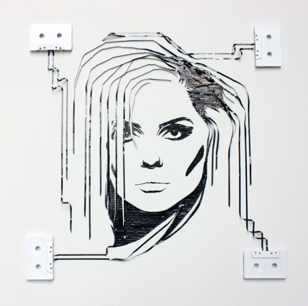 Debbie Harry Erika Simmons Creates Amazing Celebrity Portraits with Cassette Tapes (34 Pics)