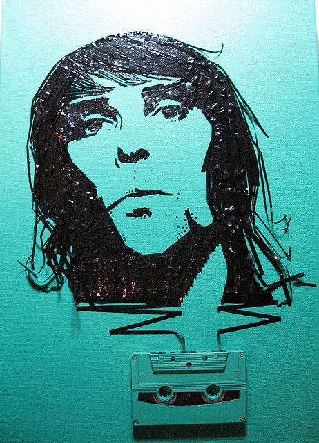 Ian Brown Erika Simmons Creates Amazing Celebrity Portraits with Cassette Tapes (34 Pics)