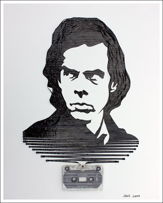 Nick Cave Erika Simmons Creates Amazing Celebrity Portraits with Cassette Tapes (34 Pics)