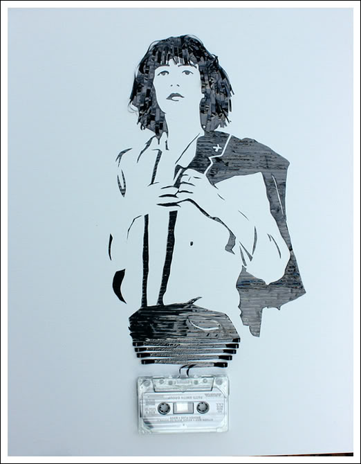Patti Smith Erika Simmons Creates Amazing Celebrity Portraits with Cassette Tapes (34 Pics)