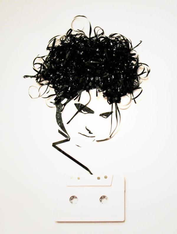 Robert Smith Erika Simmons Creates Amazing Celebrity Portraits with Cassette Tapes (34 Pics)