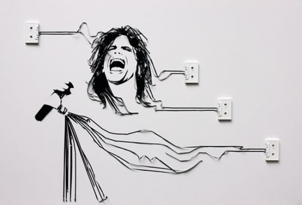 Steven Tyler Erika Simmons Creates Amazing Celebrity Portraits with Cassette Tapes (34 Pics)