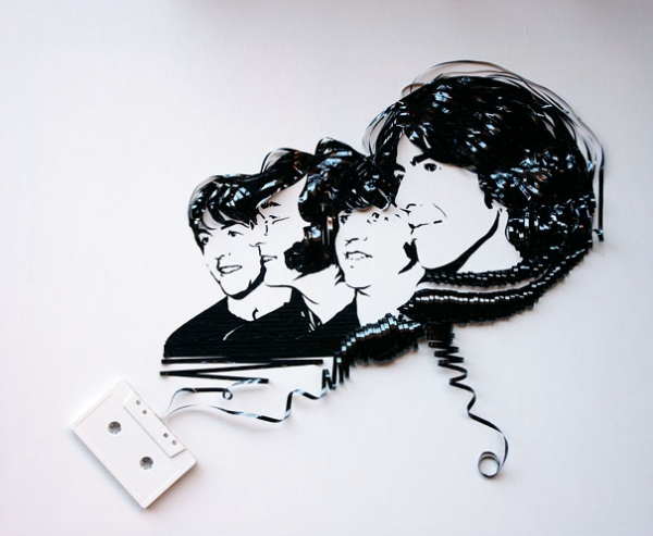 The Beatles Erika Simmons Creates Amazing Celebrity Portraits with Cassette Tapes (34 Pics)