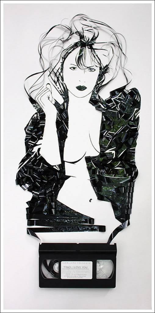 Traci Lords Erika Simmons Creates Amazing Celebrity Portraits with Cassette Tapes (34 Pics)