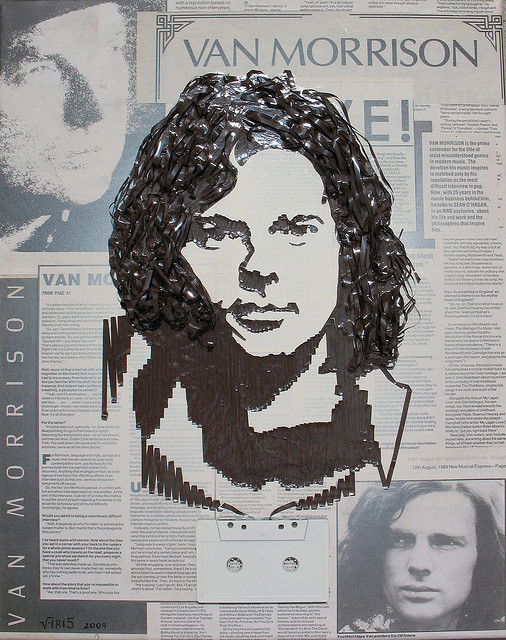 Van Morrison Erika Simmons Creates Amazing Celebrity Portraits with Cassette Tapes (34 Pics)