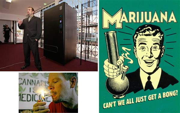 vending machine cannabis 10 Vending Machines that Carry Unusual Things