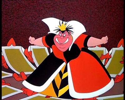 Alicia en el pais de las maravillas el 30 de Wickedest villanos de Disney
