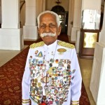 World&#039;s oldest, working hotel doorman. (K. Chattu Kuttan, 91)