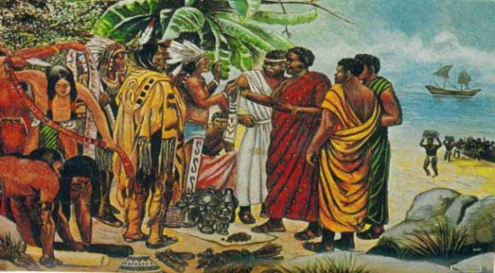 afican per columbian muslims in america 550x303 10 Fascinating Theories About the Origins of Native Americans
