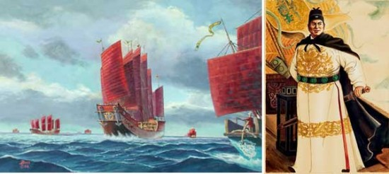 zheng he america discovery 550x246 10 Fascinating Theories About the Origins of Native Americans