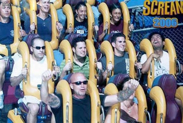 People From Roller Coasters ThumbPress 32 Winners and Losers from Roller Coasters (62 Pics)