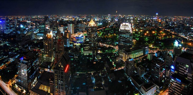 bangkok thailand skyline aerial 630x310 25 Awesome Pictures Of Skylines From Around The World