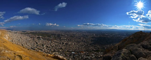 damascus syria skyline aerial 630x252 25 Awesome Pictures Of Skylines From Around The World