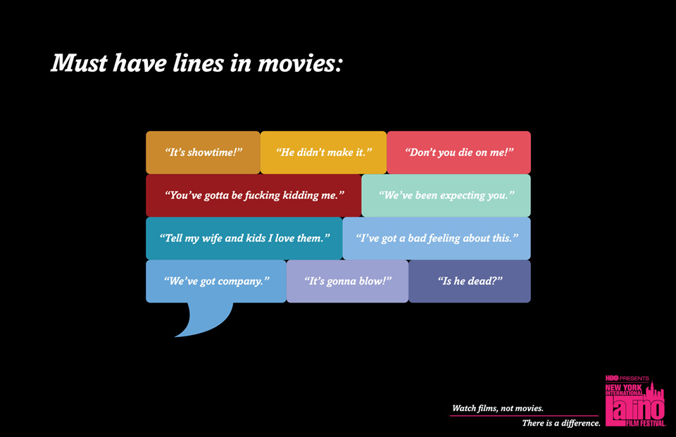 films must have lines in movies 11 Hilarious Clichés, Graphs and Charts that Makes Fun of Predictable Movies