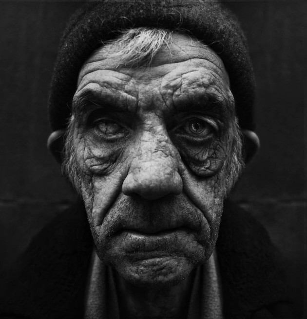 Homeless black and white portraits lee jeffries 27