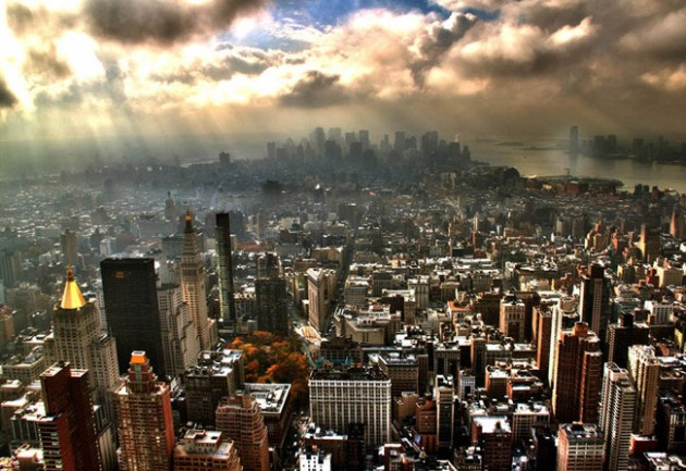 new york city skyline aerial 630x433 25 Awesome Pictures Of Skylines From Around The World