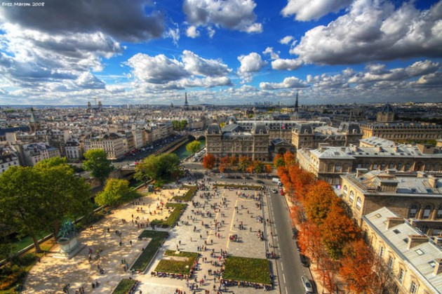 paris france skyline aerial 630x419 25 Awesome Pictures Of Skylines From Around The World