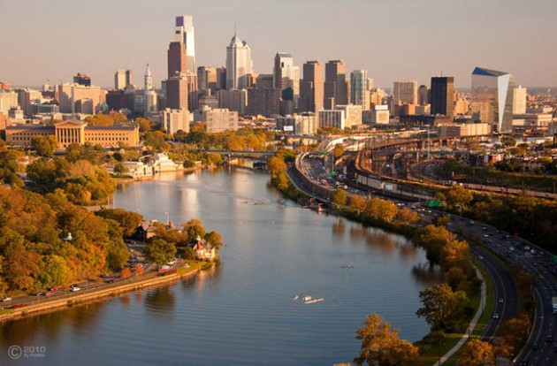 philadelphia skyline aerial 630x414 25 Awesome Pictures Of Skylines From Around The World
