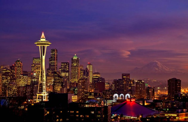 seattle skyline aerial 630x409 25 Awesome Pictures Of Skylines From Around The World