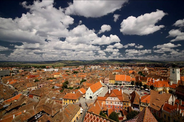 sibiu romania skyline aerial 630x418 25 Awesome Pictures Of Skylines From Around The World