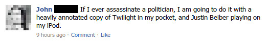If I ever assassinate a politician...