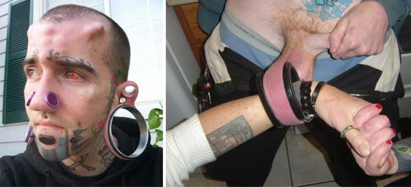 extreme body piercing The 10 Most Weird Body Deformation Practices