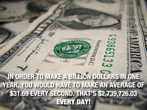 Billion Dollars 20 Mind Blowing Facts You Probably Didnt Know