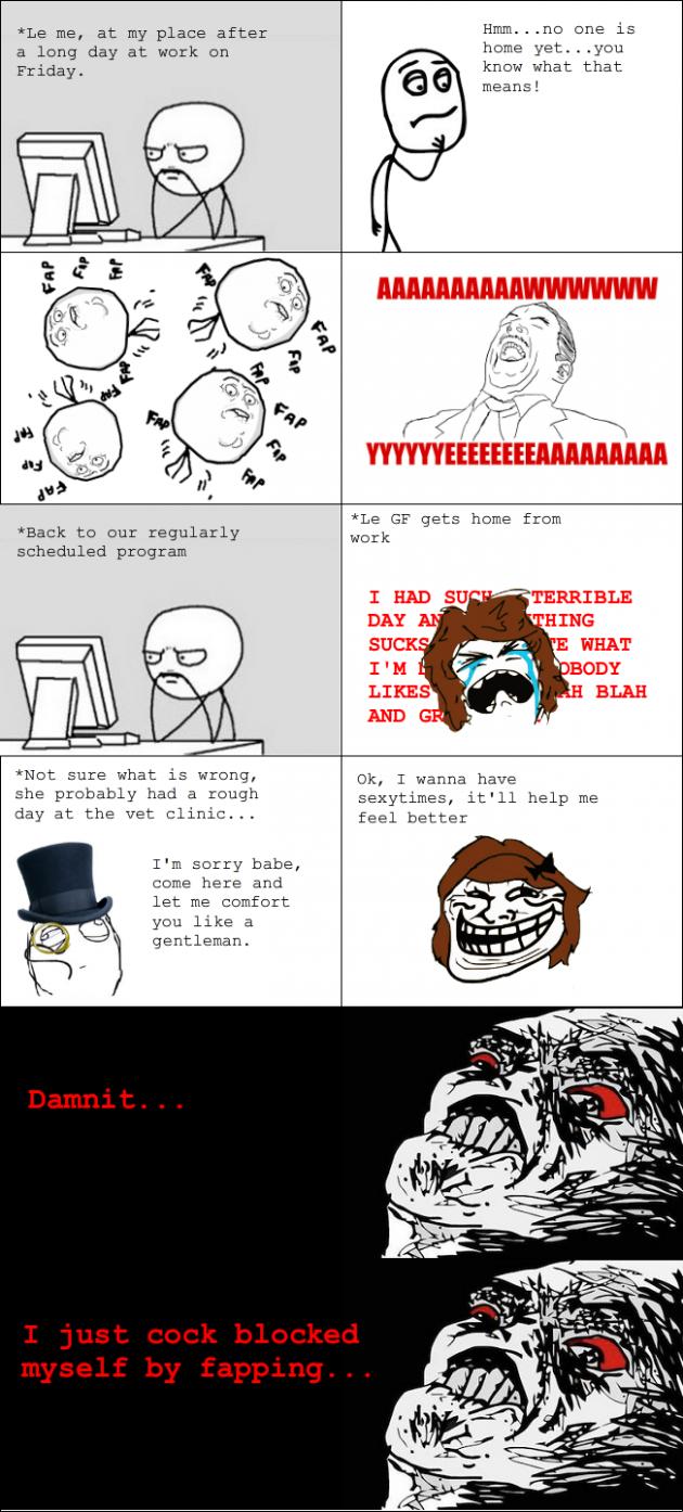 Girlfriend sexytime rage