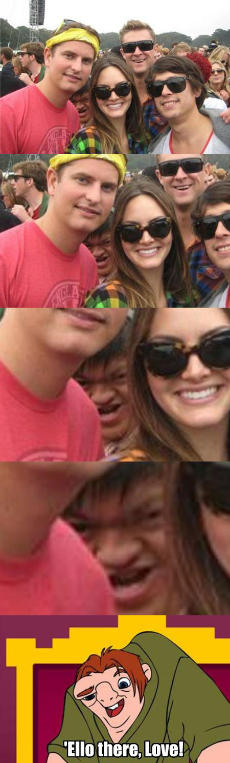 Hunchback photobomb 21 Absolutely Hilarious Memes and Verticals