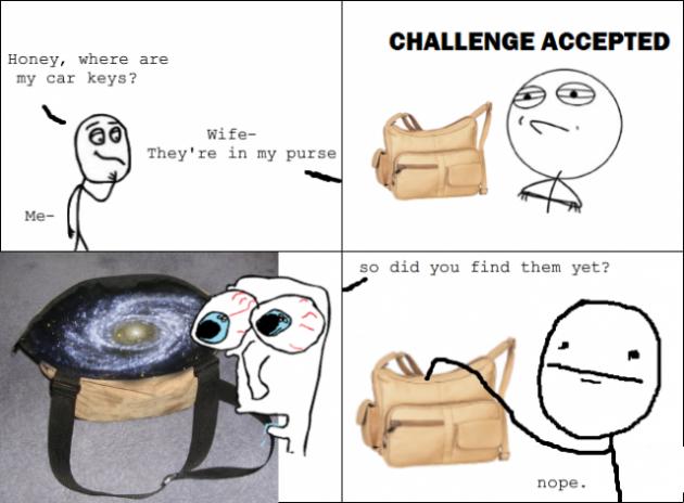 Inside girlfriend's purse