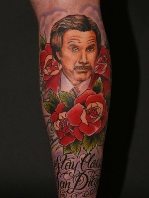 Anchorman The Legend of Ron Burgundy 50 Most Awesome Movie Inspired Tattoos