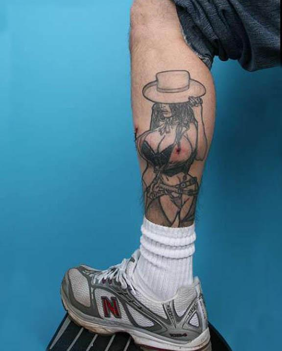 Man Gets Breast Implants for Legs to Complete Tattoo