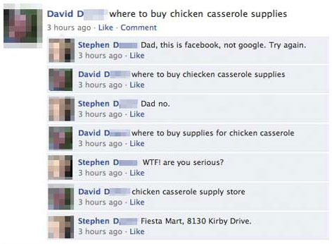 Chicken Casserole 15 Extremely Funny Facebook Status Messages