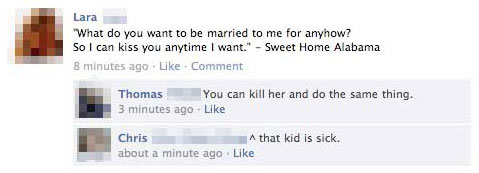 Kiss 15 Extremely Funny Facebook Status Messages