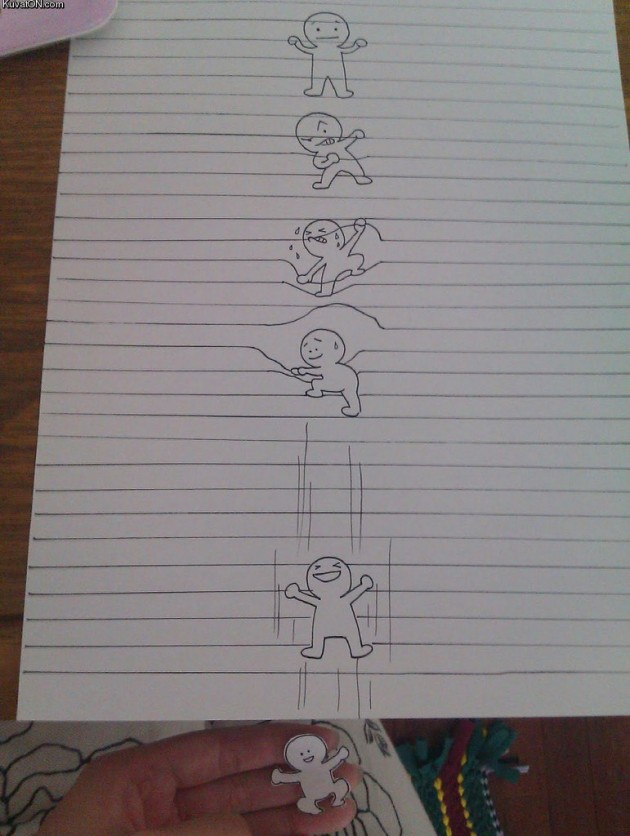 Nice Escape Bro 630x836 Hand drawn Awesomeness: The Perfect Escape (Pic)