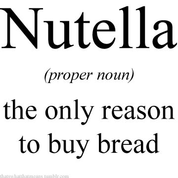 Nutella 25 Hilarious Real Life Definitions of Common Words and Phrases 