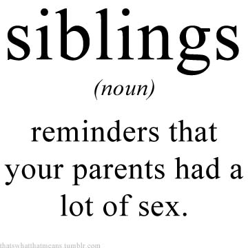 Siblings 25 Hilarious Real Life Definitions of Common Words and Phrases 