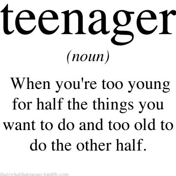 Teenager 25 Hilarious Real Life Definitions of Common Words and Phrases 
