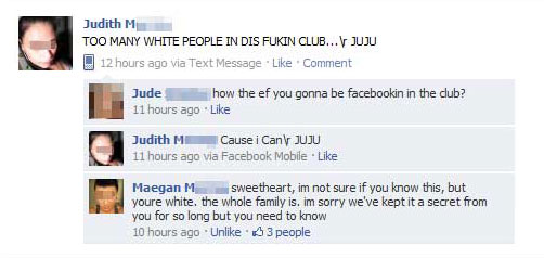 Too many white people 15 Extremely Funny Facebook Status Messages
