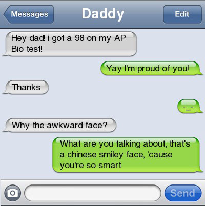 chinese face 21 Ultra Hilarious & Awkward Text Conversations Made on iPhone