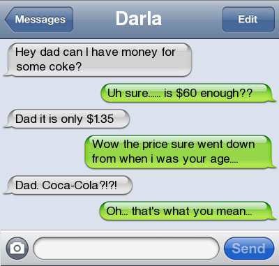 coke 21 Ultra Hilarious & Awkward Text Conversations Made on iPhone