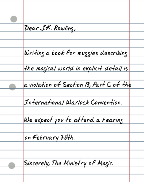 dear jk rowling 25 Random Sarcastic Funny Short Letters