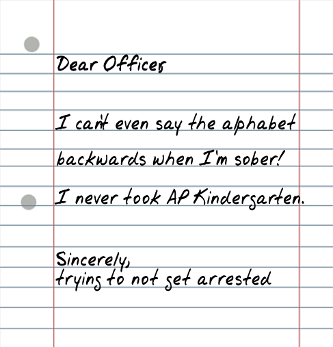 dear officer 25 Random Sarcastic Funny Short Letters